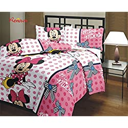 Renown Mickey Mouse Cartoon Kids Design Print Reversible Single Bed AC Blanket / Dohar / Quilt ( Pack of 1 )