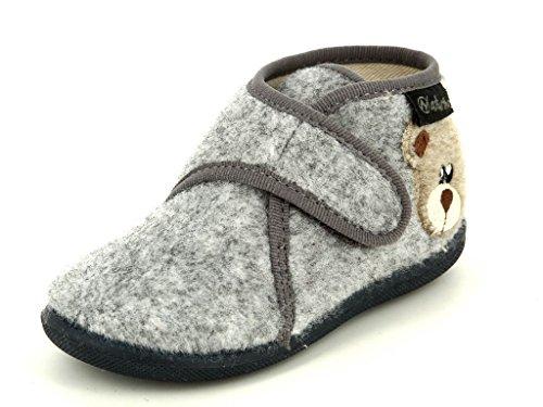 Naturino pantofola panno grigio 7454 (23)