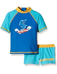 Aquatinto - Print Requin, UV +50 - Boxer & Shirt Bébé