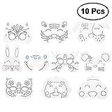 TOYMYTOY 10 Stück Blanko Maske Kinder Tiermasken Spielzeug für Party Dress Up Kostüm