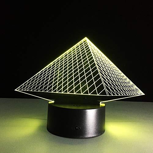* Night Light 3D es una innovadora luz de atmósfera artística, placa de guía de luz acrílica óptica que graba varios gráficos 2D, visión 3D. Efectos de iluminación únicos Impresionantes luces decorativas para el hogar con ilusión visual que hacen que...