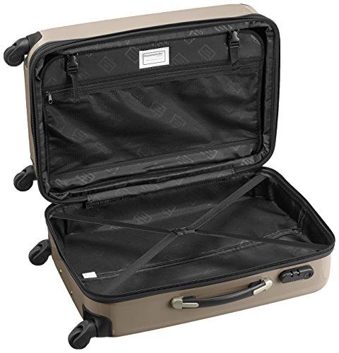 HAUPTSTADTKOFFER - Alex - 2er Koffer-Set Hartschale glänzend, 65 cm + 55 cm, 74 Liter + 42 Liter, Graphit-Blau Graphit-Champagner