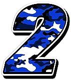 Startnummer Nummern Zahl Auto Moto Vinyl Aufkleber Sticker Motorrad Motocross Motorsport Racing Nummer Tuning Camouflage Blau (2), N 212