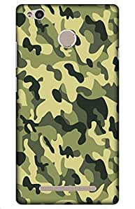 iessential Army Designer Printed Back Case Cover for Redmi 3S