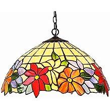 Interfan Lámpara Colgante Tiffany Sunlight E27, Multicolor