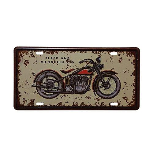 VORCOOL - Letrero de Metal para Coche, diseño Vintage con Texto en inglés Motorcycle Garage (Estilo 11)