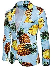 QUICKLYLY Trajes Hombre Chaquetas Charm Encanto Casual Un Botón Apto Fit Suit Traje Blazer Abrigo Tops