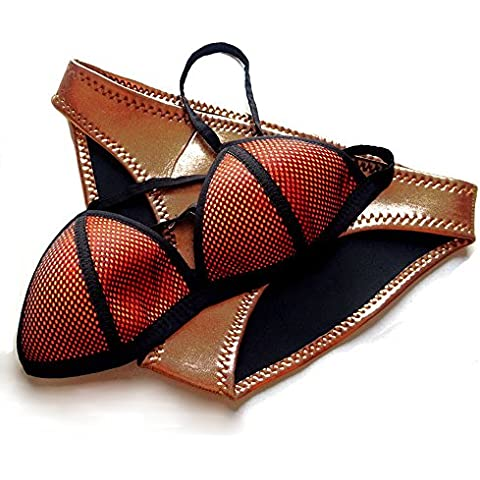 YYGIFT® donne in Neoprene Bikini Mesh con top a triangolo