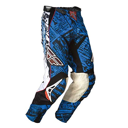 Fly Racing - Blue and Black Evolution Pants - Blue, 30 / 46