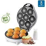 Aigostar Popcaker Silver 30CET – Máquina para hacer popcakes, cupcakes y magdalenas, 700 W de potencia, capacidad 7 huecos, placas antiadherentes. Color plata. Diseño exclusivo.