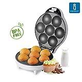 Aigostar Popcaker Silver 30CET - Macchina per Cupcake/Muffin con 7 fori, 700 Watt, Piatti Antiaderenti. Design esclusivo. immagine