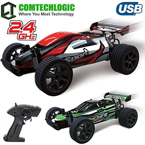 Comtechlogic® CM-2218 2.4Ghz 1:20 USB Electrical Sport Champion Distant Radio Management RC 20Kmh Quick Excessive Velocity Racing Indoor & Outside Buggy Truggy Automotive EP RTR (RED)