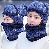 Windproof Hat Laine Chapeau Femelle D'épaississement d'hiver Plus De Velours Chaud Coupe-Vent De La Mode des Oreillettes Tendance Vélo Cap Femelle,G...