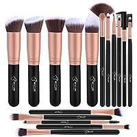 Pennelli Make Up BESTOPE Pennelli per il Trucco Set di 16 Pennelli per il Make-up Professionali, Eyeliner, Ombretto, Sopracciglia