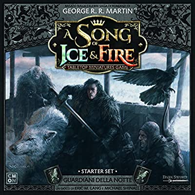 Asmodee Italia- Song of Ice and Fire Guardiani Della Notte Starter Set avec de Magnifiques Miniatures, Couleur, 10409