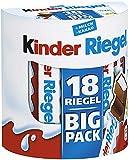 kinder Riegel - 5 Vorratspacks mit jeweils 18 Riegeln, einzeln verpackt, Schokoriegel mit feinem Milchkern umhüllt von…
