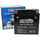 Batterie Kyoto 12V GTX14-BS MF sans entretien - Piaggio/Vespa Beverly 250 GT M28500 année de construction 2004-2007