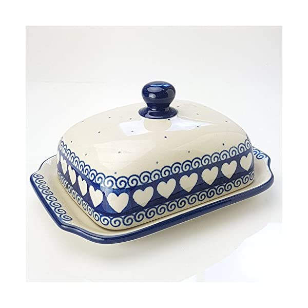 Polish Pottery Butter Dish Light Hearted