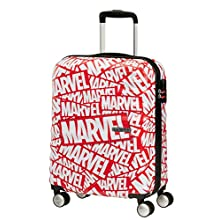 American Tourister Wavebreaker Disney - Spinner S Hand Luggage, 55 cm, 36 L, Multicolour (Marvel Logo)