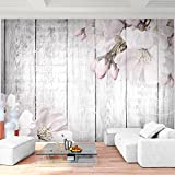 Fototapete Blumen Grau 396 x 280 cm Vlies Wand Tapete Wohnzimmer Schlafzimmer Büro Flur Dekoration Wandbilder XXL Moderne Wanddeko Flower 100% MADE IN GERMANY - Runa Tapeten 9118012b