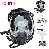 Chidi Toy Full Face Masque Respiratoire Réutilisable, Masque Anti-Poussière Masque A Gaz Masque Anti-Chimique, Protection des...