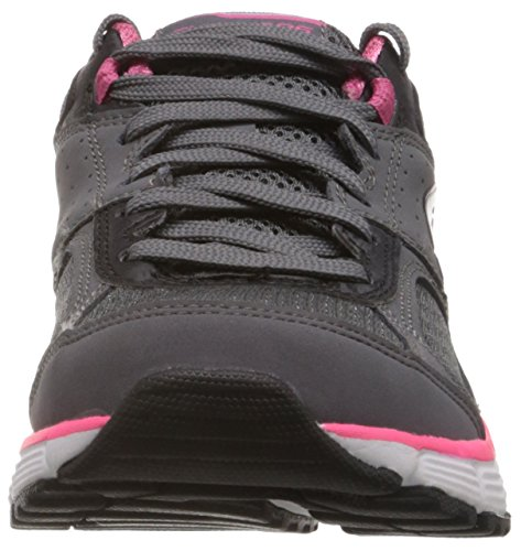 Skechers Agility Perfect Fit Baskets Da Donna Grigio (grau (charcoal / Hot Pink))