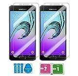 2x »Samsung Galaxy A3 2016« Panzerglas Displayschutzfolie | Blasenfrei | Ultra-HD | Bruchsicher | Rytek Panzerglasfolie ►lebenslange Garantie