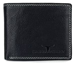 Urban Forest Detroit Black Mens Leather Wallet