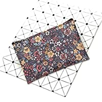 WUSYO vintage coin purse waterproof cotton Fabric small square pouch card holder,Gray