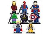 Kids Corner Productions® - Super Heroes Figures 9 Set Mini Figures Marvel Kids Corner Productions®nd DC Comics - Party Bag with Batman, Spiderman, IronMan, Thor, DeadPool, Wolverine,