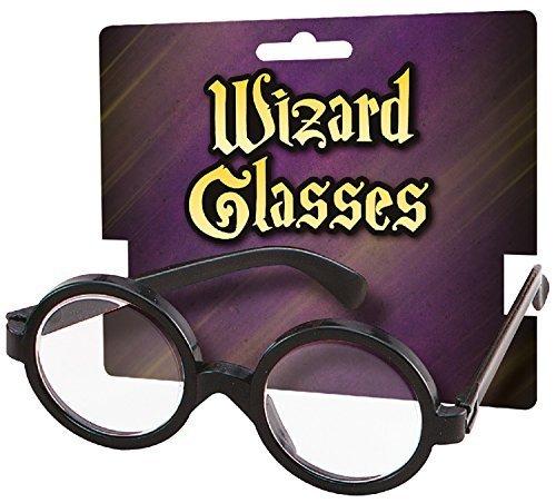 Fancy Me Jungen Mädchen Zauberer Geek Brille Welttag des Buches Kostüm Kleid Outfit Zubehör (Geek Kostüm Für Mädchen)