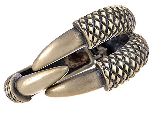 Alilang Frauen BronzeFarbton Jurassic Dinosaurier Reptile Greifertalon Armband Armband