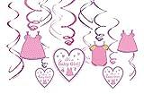 Amscan 671489 Deko-Spiralen Shower with Love, Girl, Amerikanische Größe