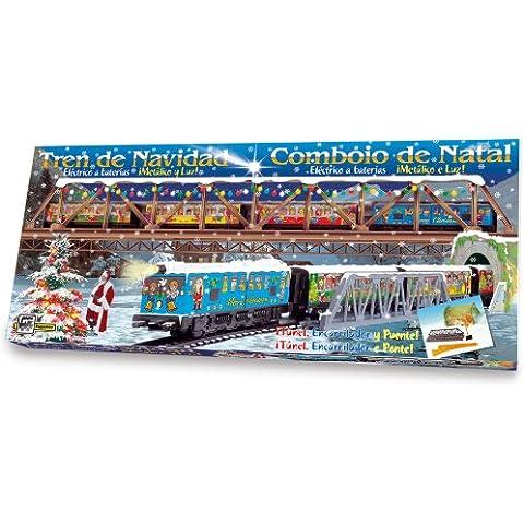 Pequetren - Tren de Navidad con puente y túnel (Servicios e Industrias del Juguete 500)