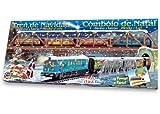 Pequetren pequetren500Weihnachten Metallic Zug mit Licht/Schiene Pointer/Brücke und Tunnel