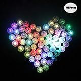 Yuccer LED Palloncini luci per Lanterne di Carta, Mini Balloon Lights per Decorazioni Floreali per Feste Nuziali 100pz (A Round)