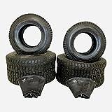 2X Reifen 16x6.5-8 Plus 2X Schlauch und 2X Reifen 20x10-8 für Rasentraktor Rasenmäher