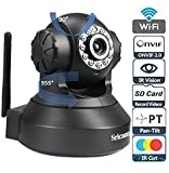 #4: Sricam SP005 SP Series Wireless HD IP Wifi CCTV Indoor Security Camera, Black