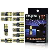 Fastcar 100KFZ LED Canbus t10W5W Leuchtmittel 24LEDs 4014smd für Clearance Licht Leselicht Tür Licht 6000K reines Weiß 350LM 24V DC