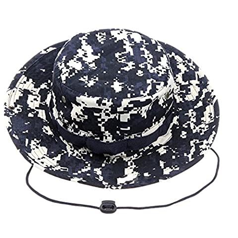 Kolumb Unisex Military Boonie Hat- Premium Soft Cotton & Polyester Fabric, Sturdy Stitching Wide Brimmed Mens & Womens Boonie Hat- Top Camo Bucket Hat In Attractive Colors For Sports Fishing Beach