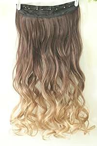 Extension con clip, pezzo unico, colore: da marrone scuro a biondo sabbia