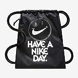 Nike Nk Heritage Gmsk 1 - Gfx Sacca, 50 cm, Nero/Nero/Bianco