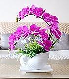 GBHNJ Artificial Flowers GBHNJ Falsch Vase Pu Purpur Orchidee 48X40Cm Künstliche Dekoration