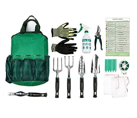 13pièces Lot d'outils de jardin, kit d'outils de jardinage, Lot