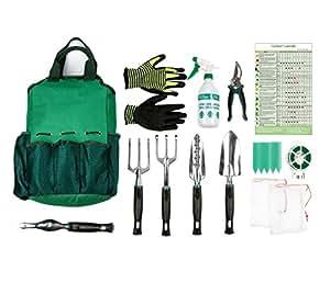13pezzi Set di attrezzi da giardino, giardinaggio attrezzi, utensili manuali set regalo per gli amanti del giardinaggio di Ayuboom