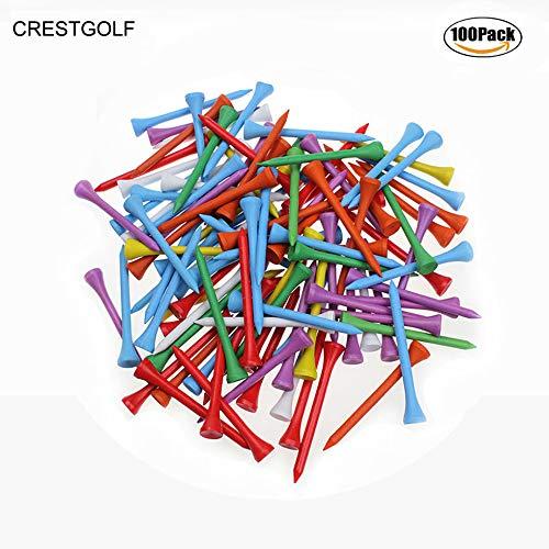 70mm couleurs mélangées de Golf en bois T-shirt Tee de...
