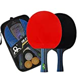 Prom near Training–Racchetta da Tennis da tavolo–Set Tavolo Tennis Sports 2Racchetta da Ping Pong e set di 3palline da tennis da tavolo