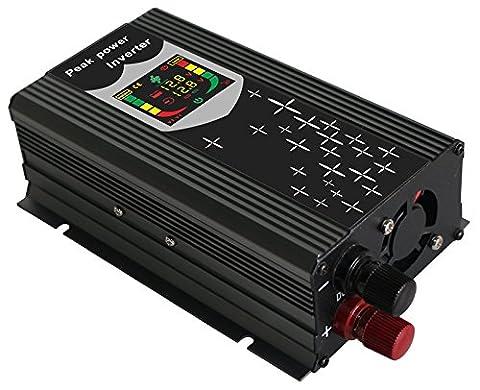 chaomin onde sinusoïdale modifiée Convertisseur 450W crête DC 12V à AC 230V 1000W Power Inverter pour panneau solaire Planche contrôlée par Processeur avec port USB numérique écran LCD