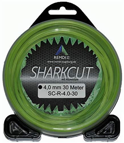Sharkcut Profi Alu Trimmerfaden, Nylonfaden, Mähfaden Rund 4,0 mm verschiedene Längen