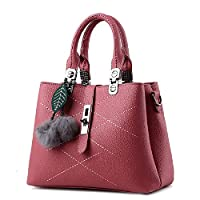 Sweet and Stylish fringed hair ball decorative leisure handbag Messenger bag for women WB79